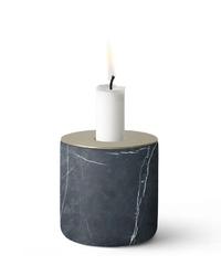 Świecznik Chunk of Marble L ciemny mosiądz