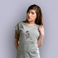 Piwnica pod baranami piotr skrzynecki t-shirt damski jasny melanż m