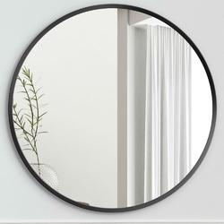 Okrągłe lustro scandinavia z czarną ramą