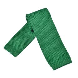 Zielony bawełniany krawat z dzianiny  knit