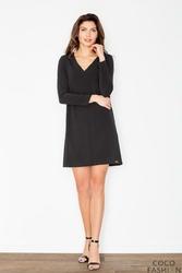 Czarna Mini Sukienka z Dekoltem V
