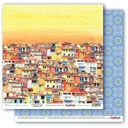 Papier 30x30cm MEDITERRANEAN DREAMS-Colorful City - 04