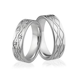 Obrączki srebrne z kolorowymi kamieniami - wzór ag-338