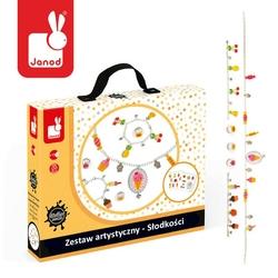 Zestaw artystyczny do tworzenia biżuterii z kurczliwego plastiku janod - słodkości 6+