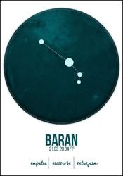 Znak zodiaku, baran - plakat wymiar do wyboru: 42x59,4 cm