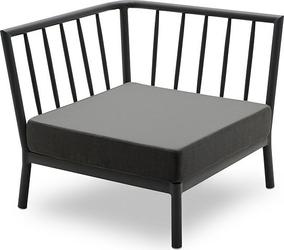 Fotel modułowy narożnikowy Tradition czarny