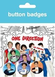 One Direction Cartoons - zestaw 6 przypinek