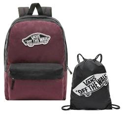 Plecak szkolny vans realm prune purple black - vn0a3ui6tqr + worek