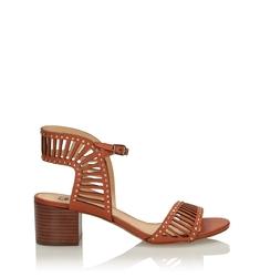 Brązowe sandały damskie