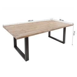 Stół drewniany troff 160x90 cm akacjowy