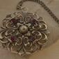 Dorota - srebrny wisior perła i rubiny