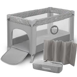 Lionelo adriaa grey scandi łóżeczko turystyczne + moskitiera + torba