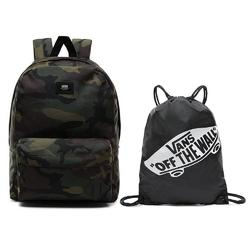 Plecak vans old skool iii classic camo + worek szkolny benched bag