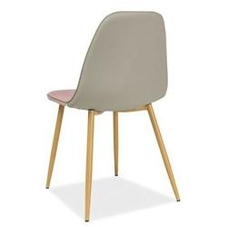 Krzesło tapicerowane mary różowe