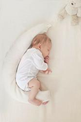 POOFI Poduszka stabilizacyjna dla noworodków i wcześniaków - kremowa