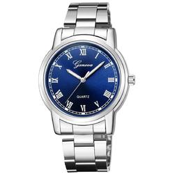 Zegarek męski BRANSOLETA KLASYK GENEVA srebrny - silver blue