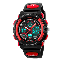 Zegarek DZIECIĘCY SKMEI 1163 DATOWNIK LED red - RED