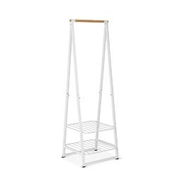 Brabantia - wieszak na ubrania z półkami, 60,00 cm, biały - biały