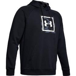 Bluza męska under armour rival fleece printed hoodie - czarny