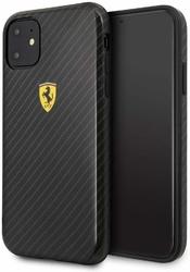 Etui ferrari hard case iphone 11 on track carbon effect