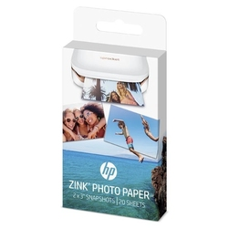 Hp zinc sticky-backed photo paper, foto papier, połysk, zero ink, biały, 5,1x7,6cm, 2x3, 20 szt., w4z13a, termo,bez marginesu