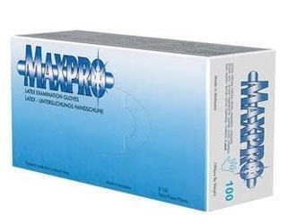 Rękawice max-pro latex rozmiar xs x 100 sztuk