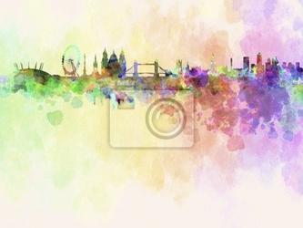Fototapeta londyn skyline w akwarela