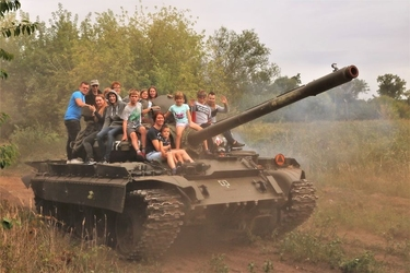 Przejażdżka czołgiem t 55 - 1 pasażer