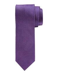 Elegancki krawat w kolorze fuxi Profuomo z mikrowzorem
