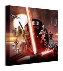 Star wars ep7 galaxy - obraz na płótnie