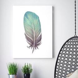Modny obraz na płótnie - feather design , wymiary - 80cm x 120cm