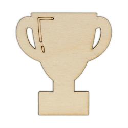Drewniana dekoracja do cardmakingu - PUCHAR