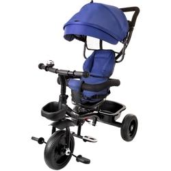 Junioria baby star czarno-niebieski rowerek trójkołowy obracany