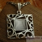 Azurra - srebrny wisior z kocim okiem