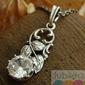 Ercoli - srebrny wisiorek z kryształem