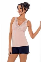 Piżama damska klaudia 12 różowa donna