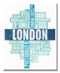 London type - obraz na płótnie