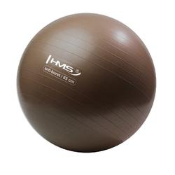 Piłka gimnastyczna anti-burst yb02 65 cm brązowa - hms