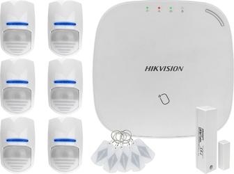 Za12667 bezprzewodowy system alarmowy gsm 4g 6 czujek ruchu hikvision ds-pwa32-nst