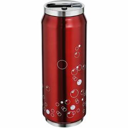 Kubek termiczny ze słomką Lattina Cilio 0,5 Litra, czerwony CI-543810