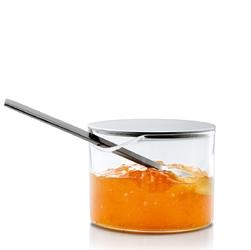 Szklany pojemnik kuchenny ze stalową pokrywą blomus basic b63619