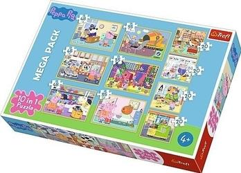 Puzzle 10w1 świnka peppa z przyjaciółmi 90358 trefl