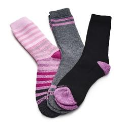 Skarpetki damskie wearproof ladies thermal 3 pack socks - różowy