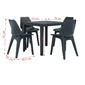 Zestaw ogrodowy stół + 4 krzesła durango plastik ciemnoszary
