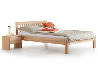 Łóżko drewniane z zagłówkiem paul