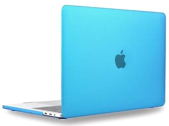 Etui alogy hard case mat + pokrowiec neopren do macbook air 2018 13 niebieskie - niebieski