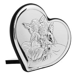 Obrazek anioły nad dzieckiem serce chrzest grawer