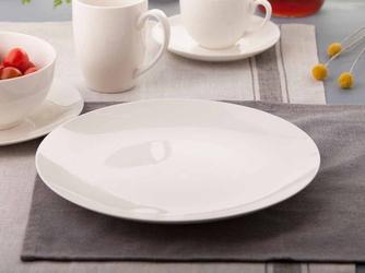Talerz obiadowy płytki porcelanowy kremowa altom design bella ecru 26 cm