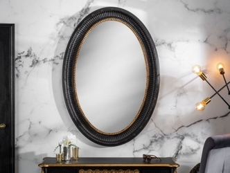 Eleganckie czarno-złote lustro venice  135x95 cm
