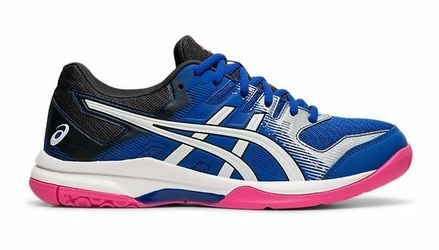 Buty sportowe damskie Asics GEL-ROCKET 9 niebiesko-różowo-czarne syntetyczne